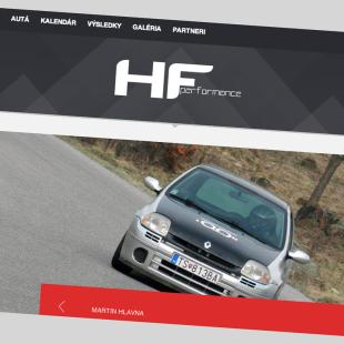 WWW stránka pre HFPerformance.sk